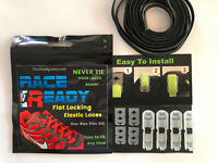 Flat Locking Shoe Laces, Race Ready 1 Pair, Never Tie Again, Choose Your Color!