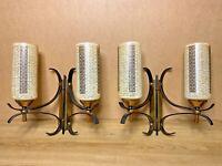 PAIRE LAMPES APPLIQUES VINTAGE  DESIGN ARLUS / LUNEL ANNÉES 50