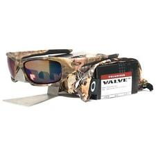 Oakley OO 9236-13 POLARIZED VALVE Woodland Camo Shallow Blue Lens Sunglasses .