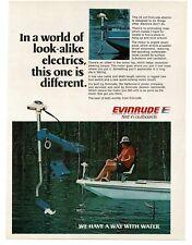 1977 Evinrude 24 Volt Electric Trolling Boat Motor VTG PRINT AD