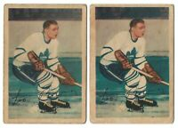 (02) VINTAGE 1953 LEO BOIVIN PARKHURST HOCKEY CARD TORONTO MAPLE LEAF #6