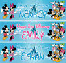 2 x personalized birthday banner party minnie mickey boys girls any name ages