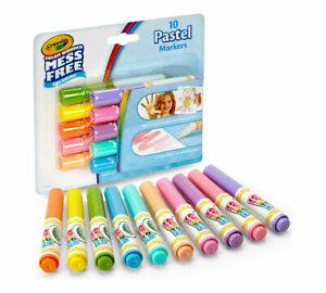 Crayola Color Wonder Mess Free Coloring 10 Count Pastel Mini Markers 75-2470 NEW