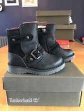 Timberland Boys/Girls Winter Boots - Black Leather Kidder Hill UK Toddler 4 BNIB