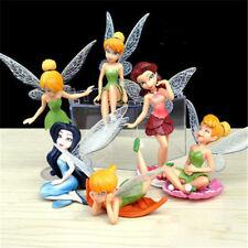 6x Tinkerbell Fairy Birthday Figure Cake Topper Figurine Garden Decor Toys  Y8