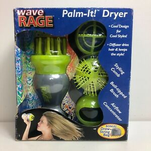 Wave Rage Palm It! Dryer Model WR502 2003 New Diffuser Hair Dry Blower