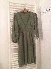 Miss Selfridge Green Knitted Dress, UK 8, 2 Front Pockets
