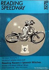Reading Speedway Programme March 27th 1978 READING RACERS v IPSWICH WITCHES