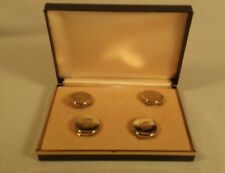 Lot of 4 NEW Vintage Gold Tone Metal Button Covers NOS Original Box Classic NICE