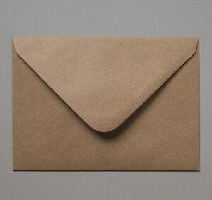 C6/A6 114x162mm Brown Ribbed Kraft Envelopes 100gsm Free UK P&P - Weddings