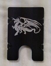 Dragon, Billet Aluminum Wallet/Credit Card Holder, RFID Protection, Black