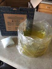 Partylite Blown Glass Yellow Ombre Jar Holder NIB! P92788