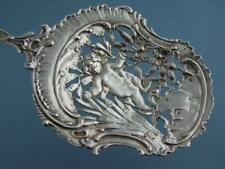 "Elaborate 800 Silver 9 3/4"" Serving Spoon ornamental Angel Cherub Hanau Germany"