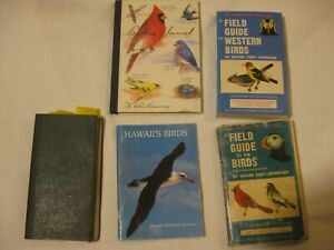 4 Four Famous Bird Books Plus BIRDERS JOURNAL Peterson and More