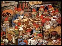 Künstler-Postkarte ROLF LIDBERG * Christmas in the House * color, Schweden 1980