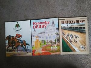 3 VINTAGE Churchill Downs Programs Kentucky DERBY:  2016, 2019, 2020