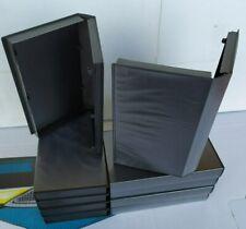 Lotto 10 Custodie Box Videocassette VHS con Copertina Trasparente per Locandina