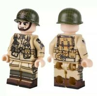 Lego WW2 US army Soldat Airborn 101st Paratrooper Military Minifig + 1 weapon