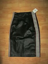 LOVELY BLACK  FAUX LEATHER **ZARA**  PENCIL SKIRT SIZE  10- BNWT