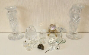 Job Lot Of Swarovski Crystal Animals And Other Glass Some Faults