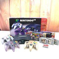 Nintendo 64 Console Lot N64 IN BOX Mario Kart CIB 3 Controllers 007 Goldeneye