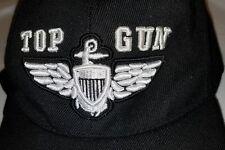 U.S. Navy TOP GUN Hat / USN Aviator Wings black  adjustable Baseball Cap   s5
