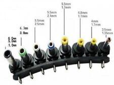 45V/Barrette 8 Embouts Connecteurs Adaptateur Secteur Alimentation Chargeur NEUF