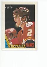 AL MacINNIS 1987-88 OPC O-Pee-Chee Hockey card #72 Calgary Flames NM