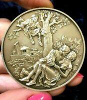 Giovanni Boccaccio The Decameron Silver Italian medal 49gr,50mm Naked