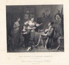 "Galanterie ""DON QUIXOTE&SAMPSON CARRASCO"" Stst.1832 von E.Smith nach J.M.Wright"