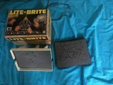 Vintage 1978 Lite Bright  5455 Hasbro Toy Game Box Papers Pegs