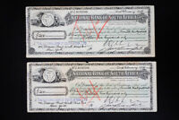 South Africa Early National Bank Notes