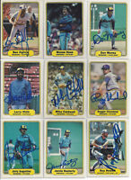 (9) 1982 Milwaukee Brewers signed cards Fleer AUTO lot B Oglivie Hisle Don Money