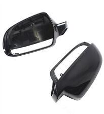 Fit AUDI A3 S3 A4 B8 S4 10-15 A5 S5 10-16 Metallic Black Wing Mirror Cover L+R