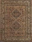 Antique Geometric Abadeh Hand-knotted Area Rug Tribal Oriental Wool 5'x7' Carpet