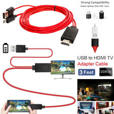 MHL Micro USB Type C to HDMI 1080P HD TV Cable Adapter For Android Samsung Phone