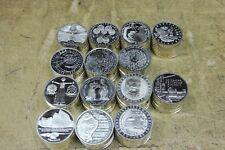 14 x 10 DM Gedenkmünzen , 1998/2001 komplett , 925 / Silber , Investorenpaket