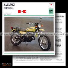 #093.15 KAWASAKI 350 F9 BIGHORN 1972 Fiche Moto Motorcycle Card