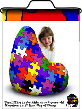 Child bean bag, Jigsaw print
