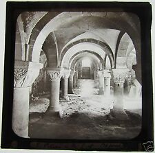 RARE Glass Magic lantern slide  ST PETERS IN THE EAST OXFORD C1900 CRYPT OR TOMB