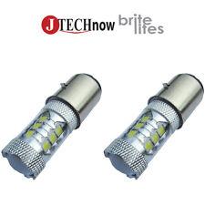 2x H6 BA20D Type 112W High Power SMD LED Bulb Xenon White
