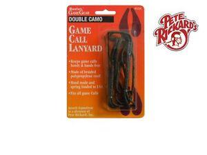 PETE RICKARD - #223C DOUBLE HUNTING CALL LANYARD BRAIDED CAMO - HUNTING LANYARD