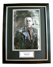 JOHN HURT SIGNED & FRAMED 16x12 AUTOGRAPH PHOTO DISPLAY DOCTOR WHO GIFT COA
