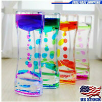 Liquid Floating Timer Desktop Motion Colorful Oil Spiral Visual Sensory Toy Gift