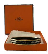 RARE AUTHENTIC HERMES ENAMEL CLOUD CELESTIAL BANGLE BRACELET W/ ORIGINAL BOX