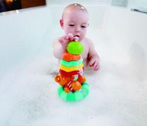 Hape Little Splashers Teddy's Umbrella Stackers - bath toy for 12m +