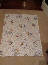 Vintage Snoopy And Woodstock Baby Blanket Handmade 39x31 Peanuts Bedding