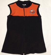HARLEY DAVIDSON WOMEN'S Sz M Sleeveless Top Vest Style Full Zip