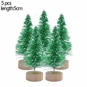 5 pieces 5 Size Artificial Decorated Mini Christmas Tree Christams Decoration