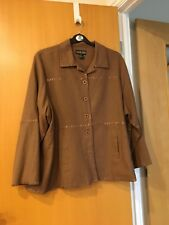 Canyon Road USA  Ladies NEW Linen /Rayon Light Weight Jacket XXL Brown Lined